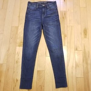 American Eagle Super Hi Rise jegging crop jeans 4